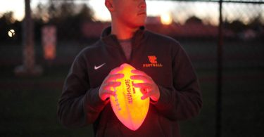Kan Jam Illuminate Ultra-Bright LED Light-Up Glow Football (Full Size and Weight)