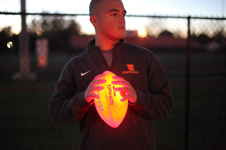 Kan Jam Illuminate Ultra-Bright LED Light-Up Glow Football (Full Size and Weight)