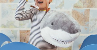 Shark Plush Animal Head Wall Decor