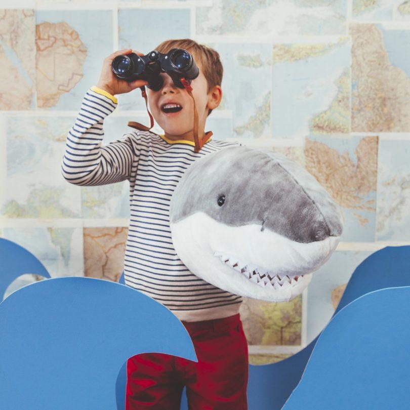 Shark Plush Animal Head Wall Decor