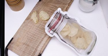 Zipper Mason Jar Medium Bag