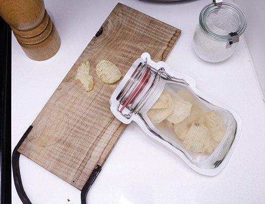 Zipper Mason Jar Medium Bag