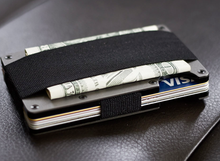 High Tech, Aluminum Slim Wallets for Men with RFID Blocking