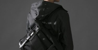 Stighlorgan Black Raan Rolltop Shoulder Bag / Backpack