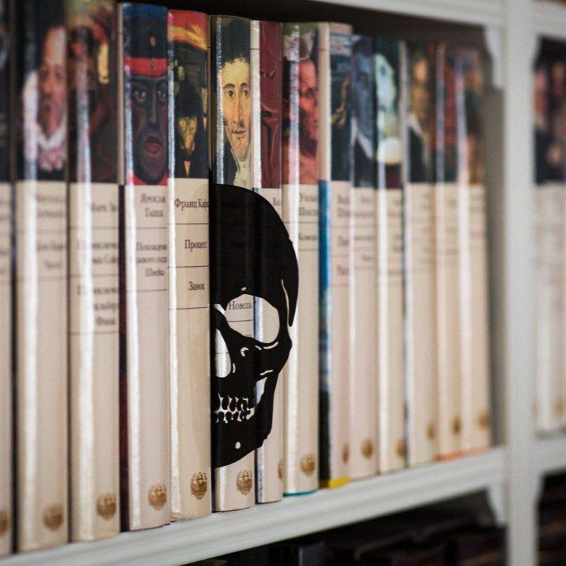 Skull Book Divider