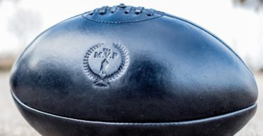 The Modest Vintage Player Executive Black Genuine Leather Rugby Ball