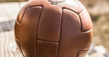 Deluxe Leather T Soccer ball