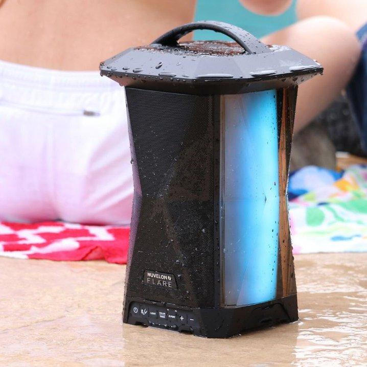 Nuvelon FLARE Wireless Multi-Sync Splash-Proof Bluetooth Speaker With LED Light