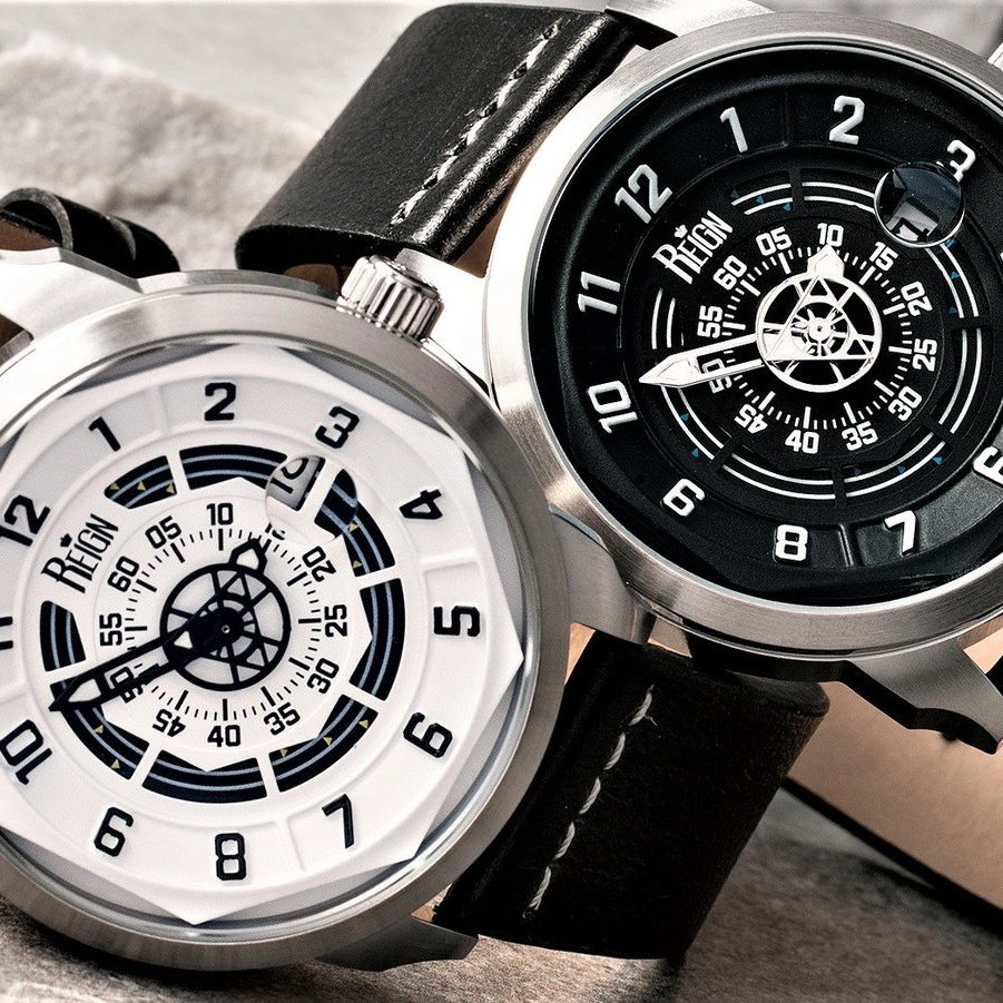 Reign Lafleur Automatic Genuine Leather Date Display Watch