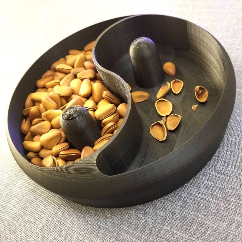 Yin & Yang 3D Printed Nut Bowl