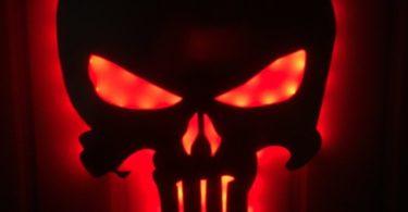 Punisher Mirror Colorful Night Light