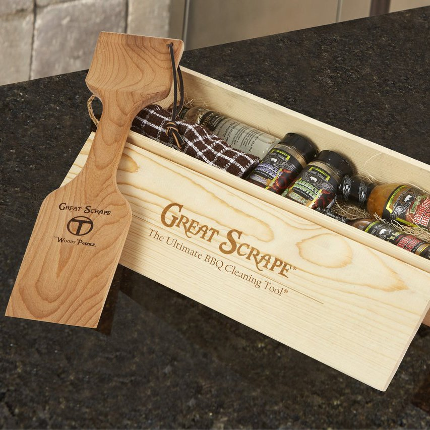 Gift Box With Woody Paddle 187 Petagadget