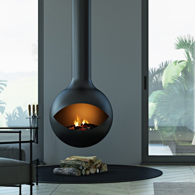 Zen Occhio Suspended Fireplace