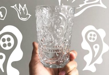 Candy Skull Drinking Glass Set