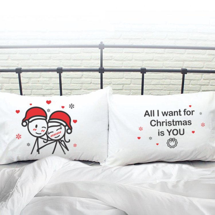 Merry Christmas Couple Pillowcases