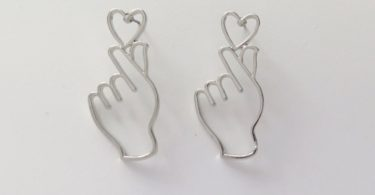 Fancy You Heart Silver Earrings