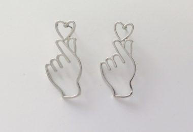 Fancy You Heart Silver Earrings