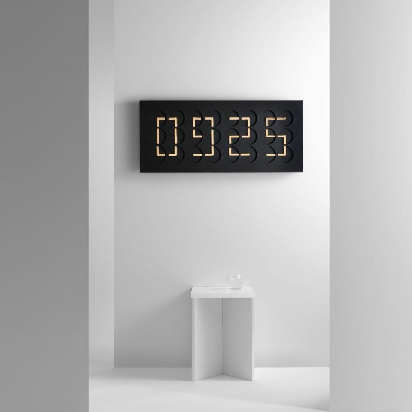 ClockClock 24 in Black with Gold Hands