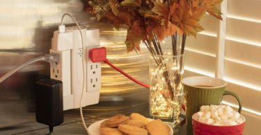 Globe Electric 6 Outlet Swivel 2 USB Port Surge Protector