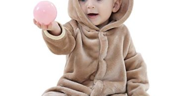 chinatera Baby Boys Girls Hoodies Romper Outfit Onesies Cute Bear Style Pajamas