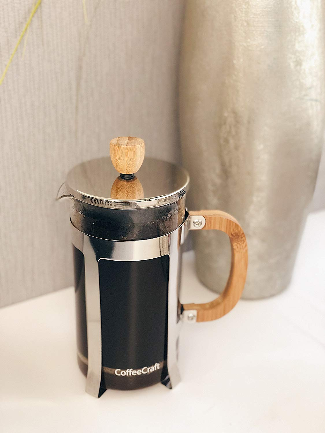 Coffee Craft Co. Bamboo & Glass French Press