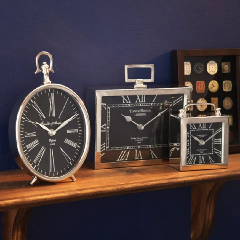 "Two's Company ""Greenwich"" Desk Clocks"