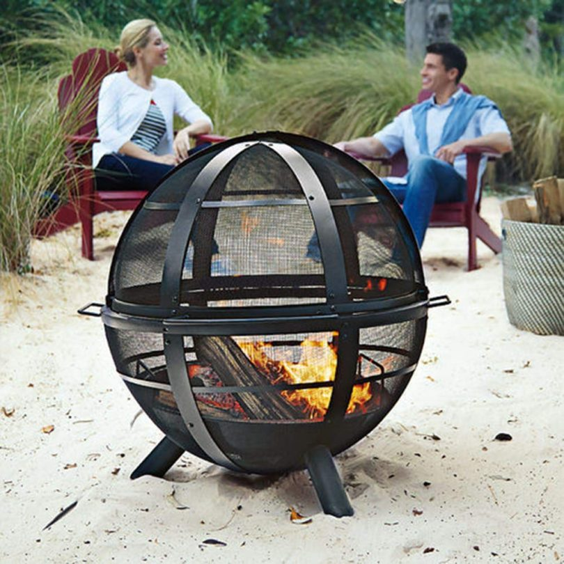 Regal Flame Globe Ball Outdoor Backyard Garden Home Light Fire Pit