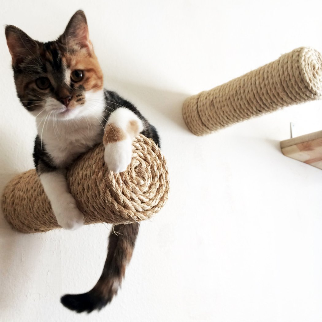 Floating Sisal Cat Post Step by CatastrophiCreations