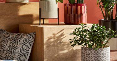 Rivet Geometric Ceramic Planter