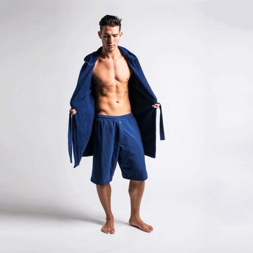DudeRobe Luxury Towel Lined Hooded Bathrobe