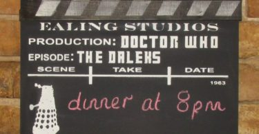 Dr Who Black Board