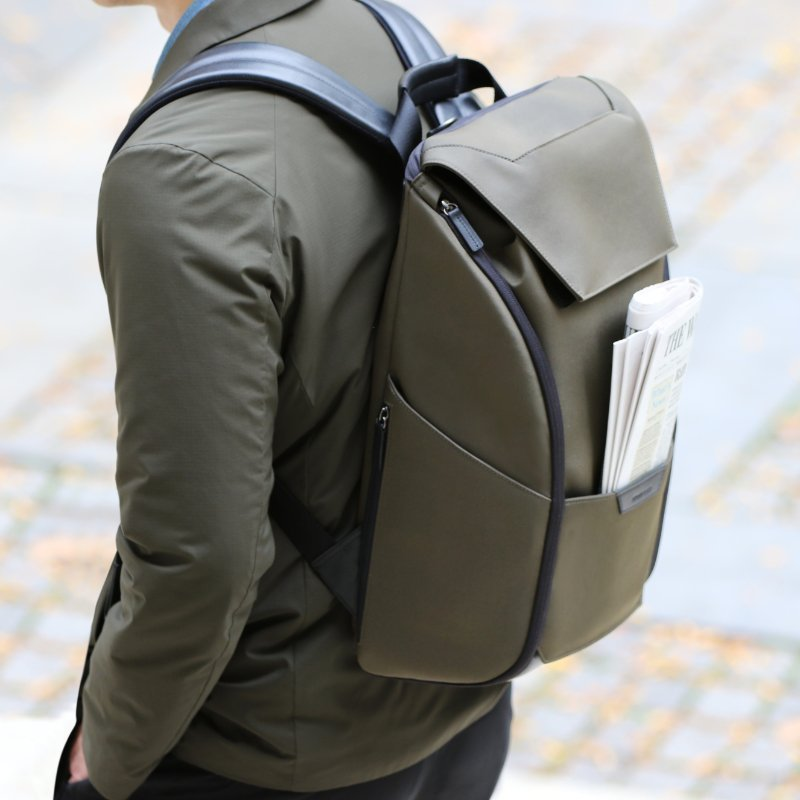 The Capstone Backpack Olive by Stuart & Lau