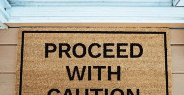 Proceed With Caution Doormat