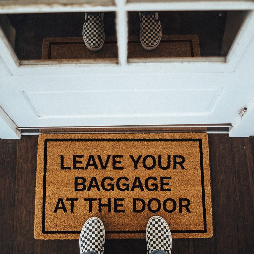 Leave Your Baggage At The Door Doormat