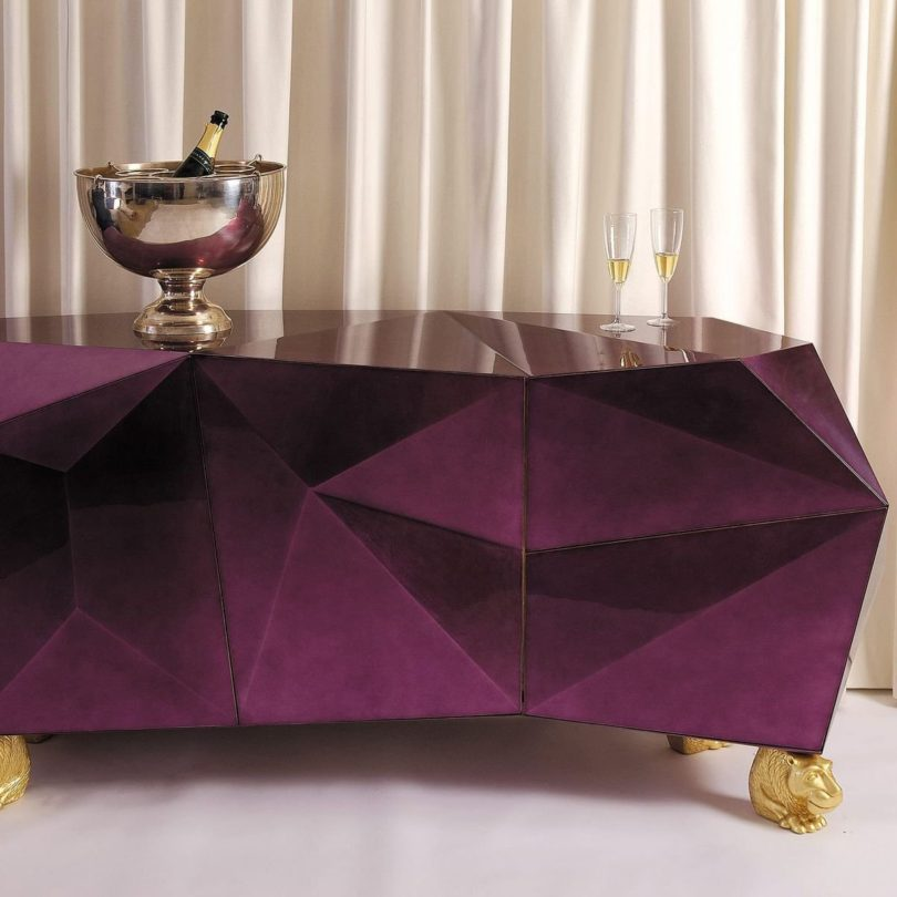 Diamond Amethyst Sideboard from Covet Paris