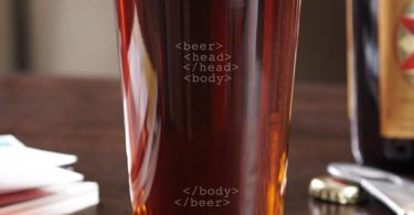 Code to Happiness Pint Glass