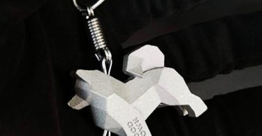 Handcrafted Stainless Steel Samoyed Keychain