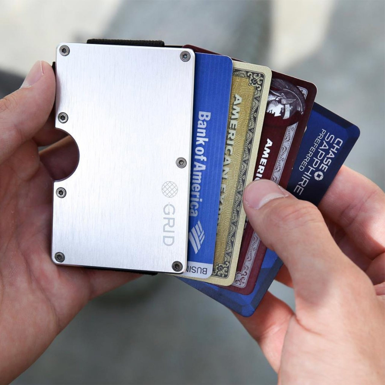 GRID Wallet // Silver Aluminum