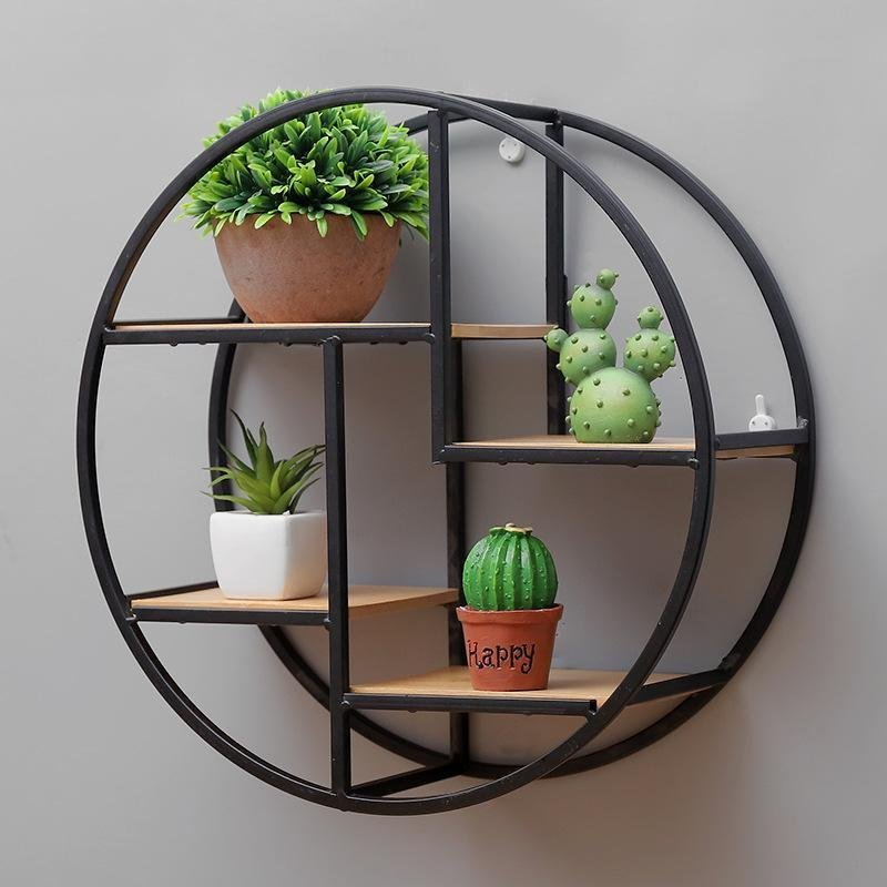 Retro Iron Wall Shelf