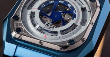 Reign Asher Sapphire Crystal Semi-Skeleton Watch