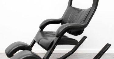 Leather Gravity Balans Relax Armchair by Peter Opsvik for Stokke