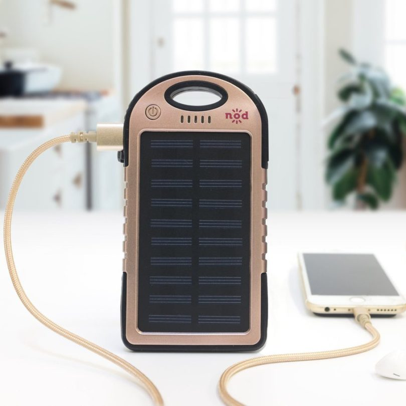 Rose Gold Beam Bank Solar Power Charger