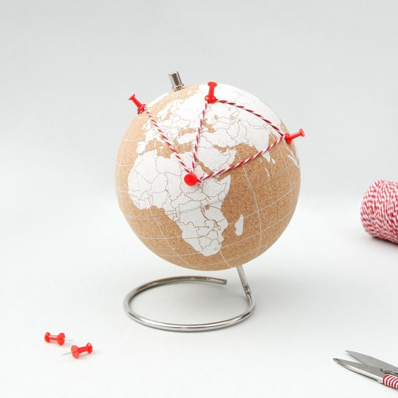 Suck UK Cork Globe-Pinpoint Your Travels, Adventures and Memories