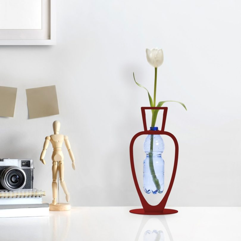 Red Primavera Bottle Vase