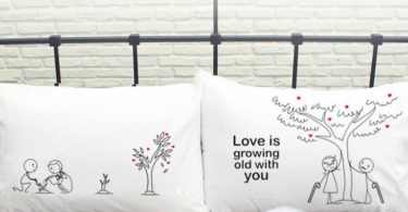 Grow Old with You Couple Pillowcases