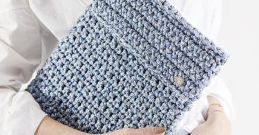 Blue Jeans Laptop Slip Crochet Kit