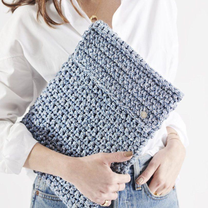Blue Jeans Laptop Slip Crochet Kit