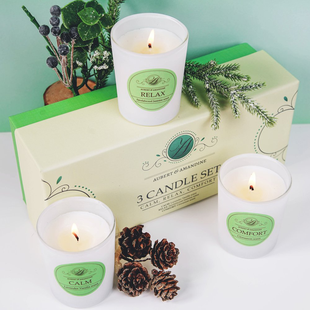 Aubert & Amandine Aromatherapy Scented Candles Gift Set