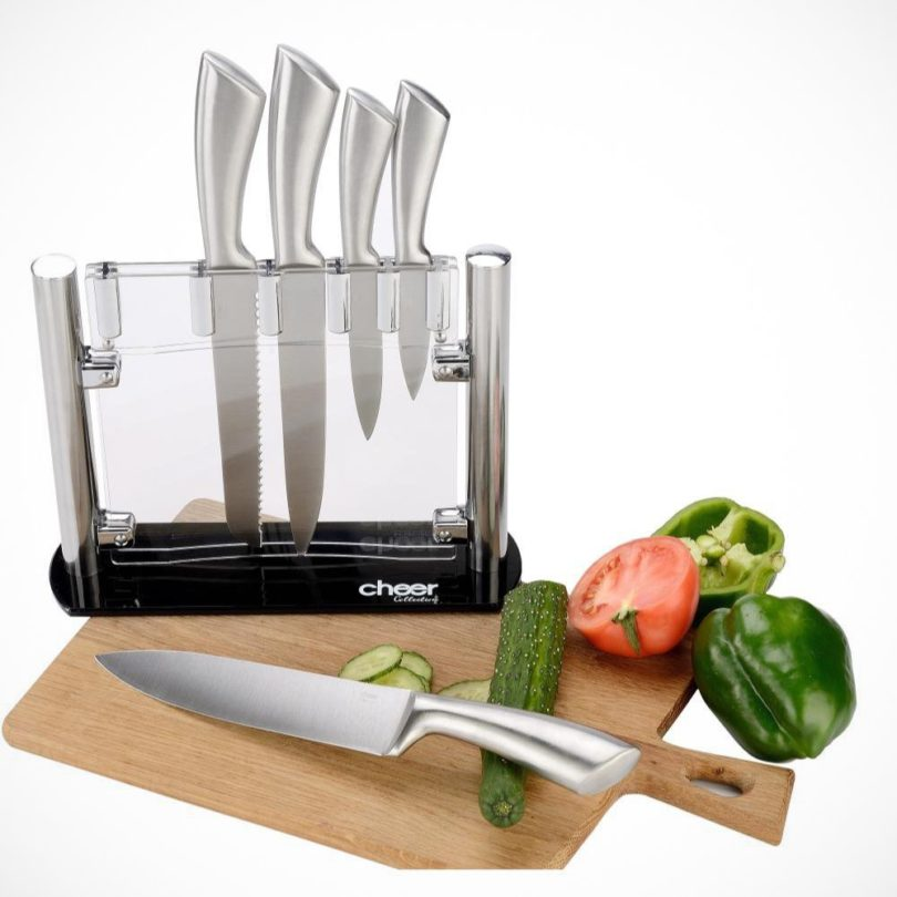 Cheer Collection 6pc Stainless Steel Kitchen Knife Set