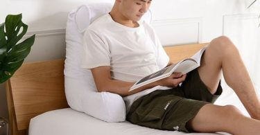 Cheer Collection Foam-Filled TV and Reading Pillow with Detachable Pillow